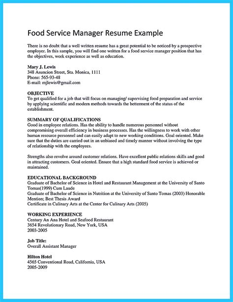 Culinary Resume by Excellent Culinary Resume Sles To Help You Approved