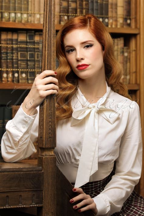 Ivori Dress 2w 40s sybil blouse in ivory