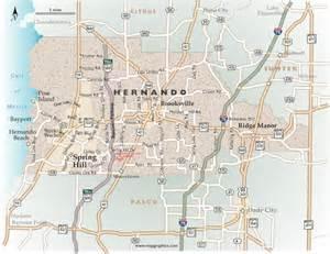Hernando Florida Map by Map Of Hernando County Florida