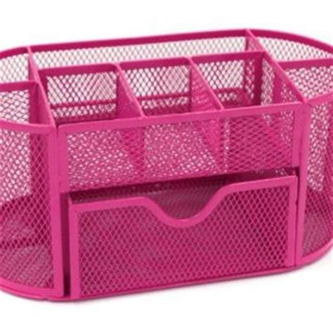 Pink Desk Organizer Mesh Desk Organizer Office Supply Caddy From Pink