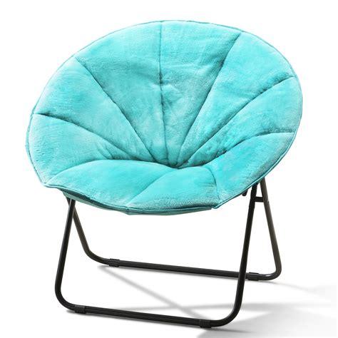 plush saucer chair folding plush saucer chair silla negra para cuarto sala