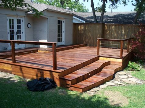 deck in backyard backyard residential ipe deck by art deck o edeck com