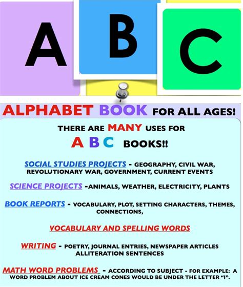 abc book templates for all ages them middle school