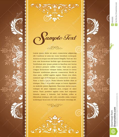 Royal Invitation Letter Exle Floral Vintage Template Stock Vector Image Of Border 9942826