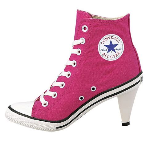 converse high heels converse all high heel l sneakers stiletto shocking