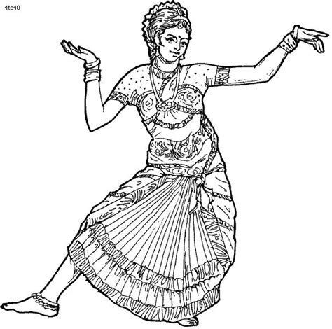 folk dances  india coloring pages bharatanatyam dance