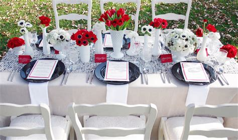 black blue and silver table settings table setting inspiration via weddingchicks com the