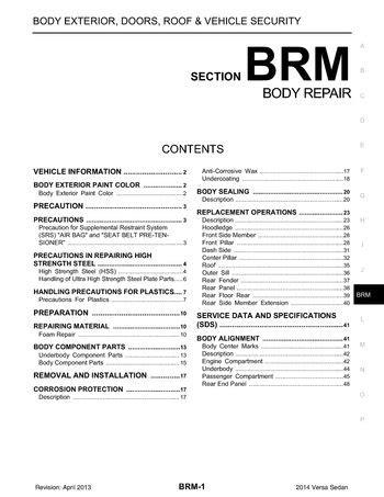 download car manuals pdf free 2012 nissan versa engine control download 2014 nissan versa body repair section brm pdf manual 48 pages