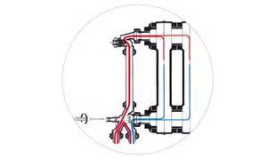 robinet de radiateur monotube thermostatisable 4 voies