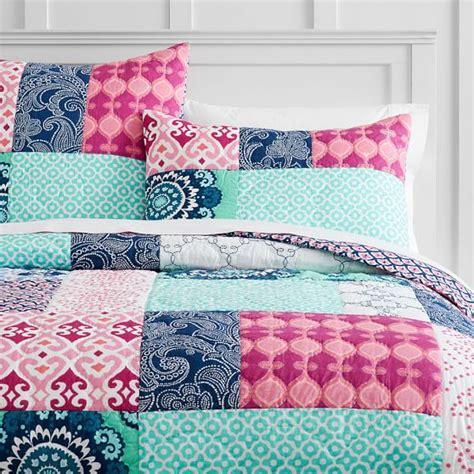 bohemian patchwork quilt sham pbteen