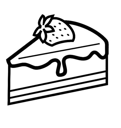 Coloring Pages Of A Piece Of Cake | free cake slice coloring pages