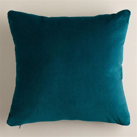 throw pillow teal velvet throw pillows world market