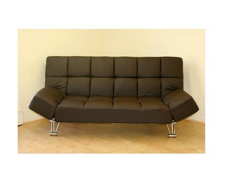 klick klack sofa bed jm uptown 203 794 leatherette dark brown klick klack