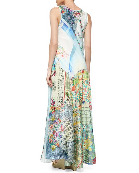 Patchwork Maxi Dress - johnny was sleeveless patchwork maxi dress lyst
