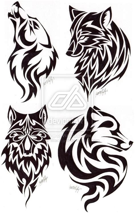 tribal wolf head tattoo designs images designs