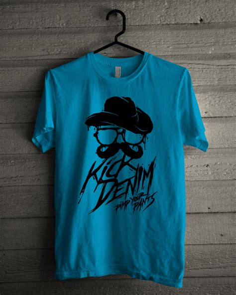 T Shirt Kick Denim Kaos Oblong Kaos Distro Baju Murah kick denim clothing images