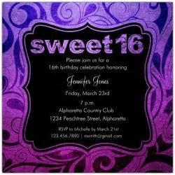 brilliant emblem sweet 16 birthday invitations paperstyle