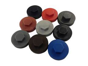 19mm colour coded tek caps accord steel cladding