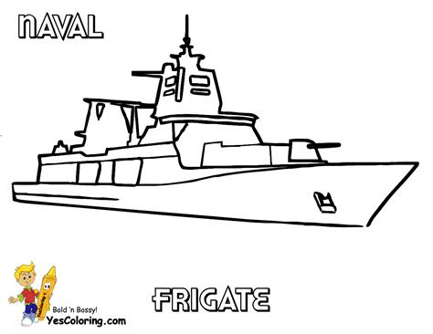 unflinching navy ship coloring page free ships