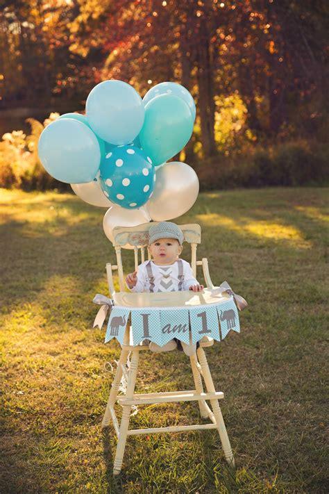 elephant high chair cake 1st birthday boy i am one highchair banner i am 1 high