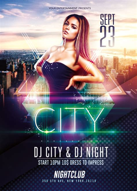 flyer design deviantart elegant city event psd flyer template by romecreation on