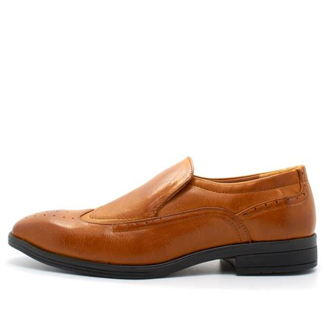 new mens italian style slip on brogues shoes smart formal