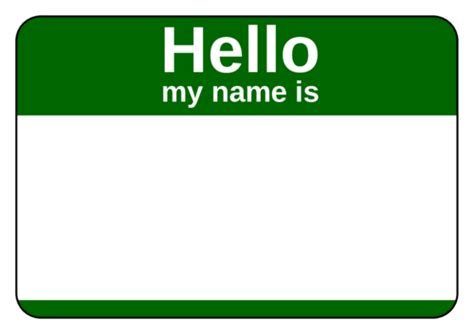 Name Tag Label Templates Hello My Name Is Templates Name Tag Template