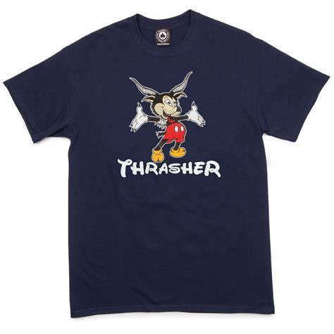 Kaosbajut Shirt Thrasher 1 thrasher mousegoat t shirt navy