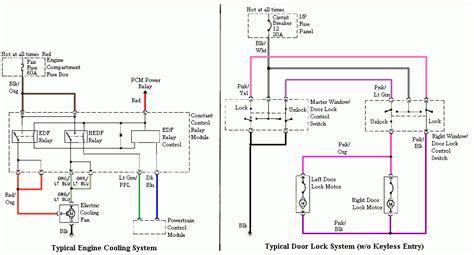 mustang cooling system  door lock wire diagram