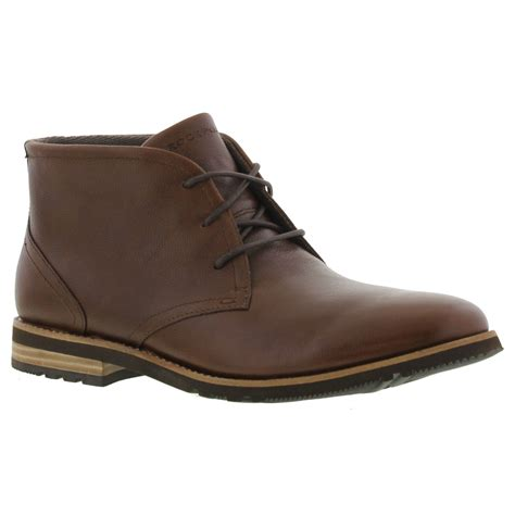 rockport s boots uk rockport ledge hill 2 chukka mens brown leather chukka