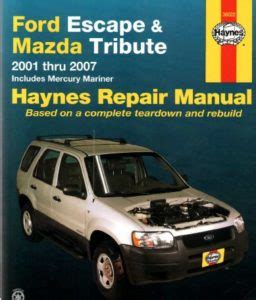 service and repair manuals 2000 ford escape electronic toll collection ford escape 2000 2007 workshop service repair pdf manual service repairs