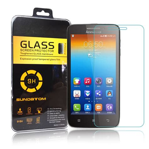 Myuser Tempered Glass Lenovo S650 Screen Guard sundatom 9h rounded edge 2 5d lenovo s650 tempered glass screen protector for 4 7 inch s650