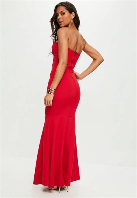 Maxi Miss Faiza 1 czerwona sukienka maxi bez r苹kaw 243 w missguided