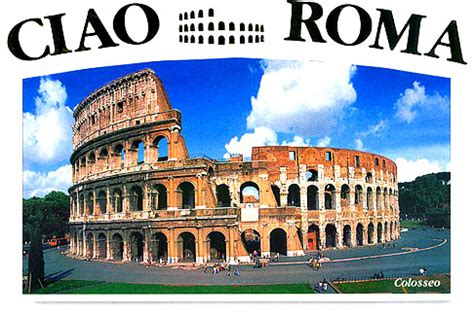 roman signifer keychain   colosseum postcard