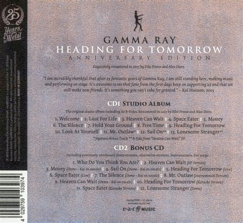 Cd Gamma Heading For Tomorrow 2 Bonus Tracks 0dayrox melodic rock aor rock prog classic rock