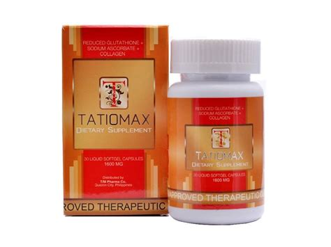 Collagen Softgels tatiomax reduced glutathione collagen softgel 1600mg 30 capsules