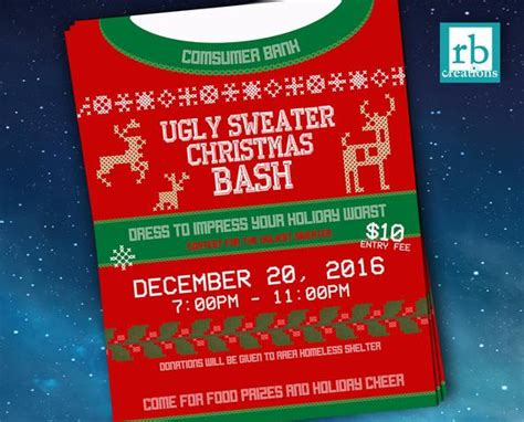 Event Flyer Ugly Sweater Flyer Christmas Flyer Ugly Sweater Sweater Flyer Template Free