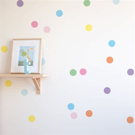 confetti wall sticker dots decals for nursery 41 orchard