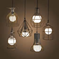 Lounge Pendant Lights New Vintage Iron Pendant Light Industrial Loft Retro Droplight Bar Cafe Bedroom Restaurant