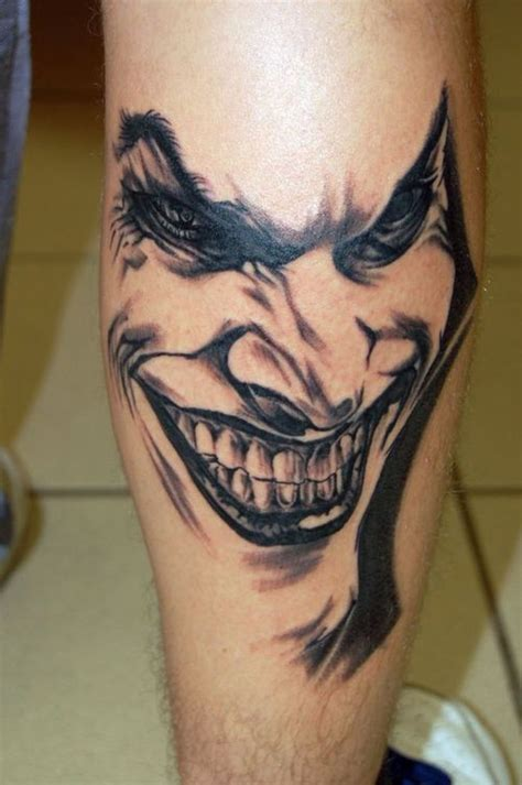 joker tattoos design one off cool clown tattoo best