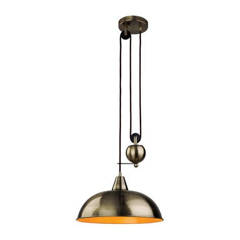 Rise And Fall Pendant Light Firstlight Century Modern Rise And Fall Ceiling Light In Antique Brass 2309ab Firstlight