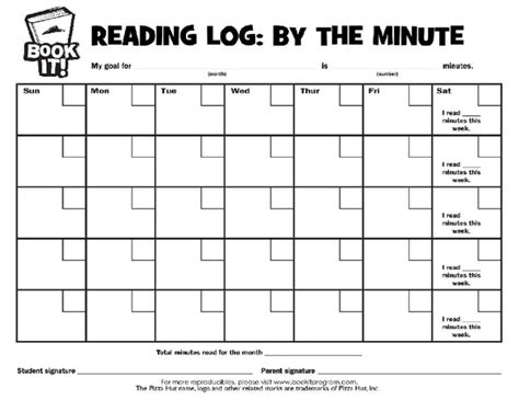 printable monthly reading log for kindergarten reading log printable when i become a teacher