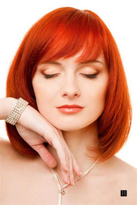 red hairstyles images red medium length hairstyles