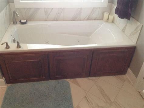 custom bathtub surrounds custom jacuzzi tub surround work by signature cabinetry