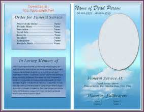 funeral templates free downloads free funeral program template microsoft word