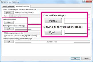 Office 365 Outlook Increase Font Size Set The Font Or Text Color For Messages You Send Office