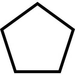 pentagon outline shape icons free download