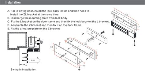 Magnetic Door Lock 180kg Kw 1 Bracket Zl Bracket U For Access water proof maglock zl bracket support for small electronic magnetic lock with certificate of