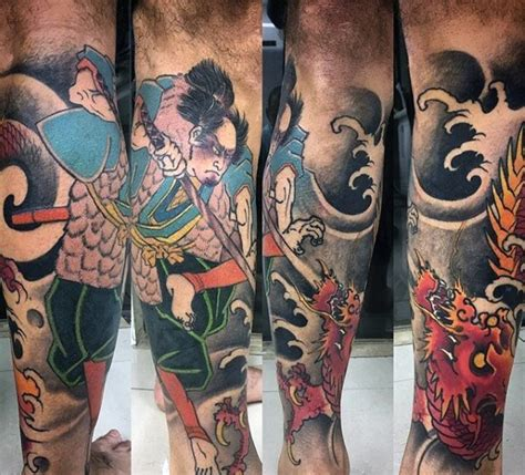 japanese leg tattoos for men 30 leg designs for masculine ink ideas