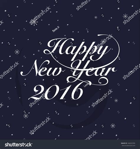 new year card template 2016 new year 2016 greeting card typography stock vector